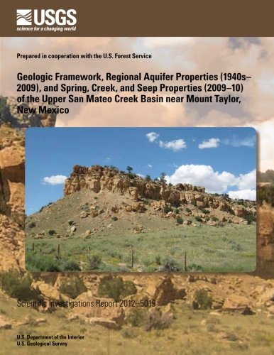 Geologic Framework  Regional Aquifer Properties  1940S 2009   And Spring  Creek  And Seep Properties  2009 10  Of The Upper San Mateo Creek Basin Near Mount Taylor  New Mexico