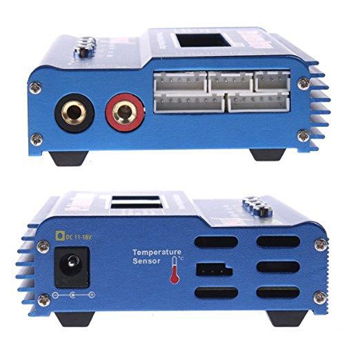 Foxnovo iMAX B6 Digital LCD Screen Lipo Ni-MH Li-ion Ni-Cd RC Battery Balance Charger (Blue)