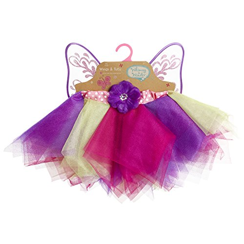Whimsy & Wonder 91666 Multi-Color Tutu & Wings Dress-Up Set