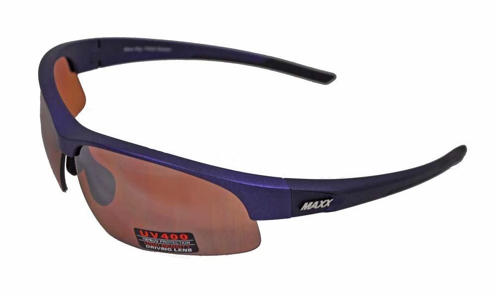 bfda38633d Amazon.com  2017 Maxx Sunglasses Ray TR90 Blue Frame HD Lens  Sports    Outdoors