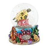 Turtles Underwater 100mm Resin Glitter Water Globe Plays Tune Somewhere Out There