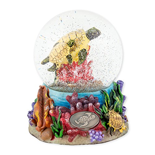 Turtles Underwater 100mm Resin Glitter Water Globe Plays Tune Somewhere Out There by Cadona International, Inc (Image #4)