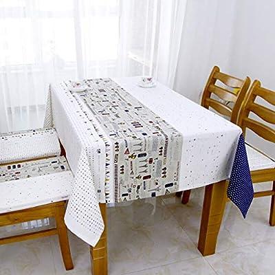 HUIQI Mantel ZYL Algodón Mantel de Lino Ropa de Mesa Paño de ...