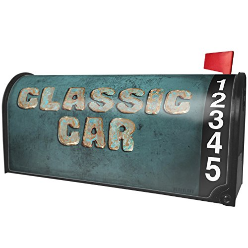 NEONBLOND Classic Car Vintage Metal Copper Magnetic Mailbox Cover Custom Numbers by NEONBLOND