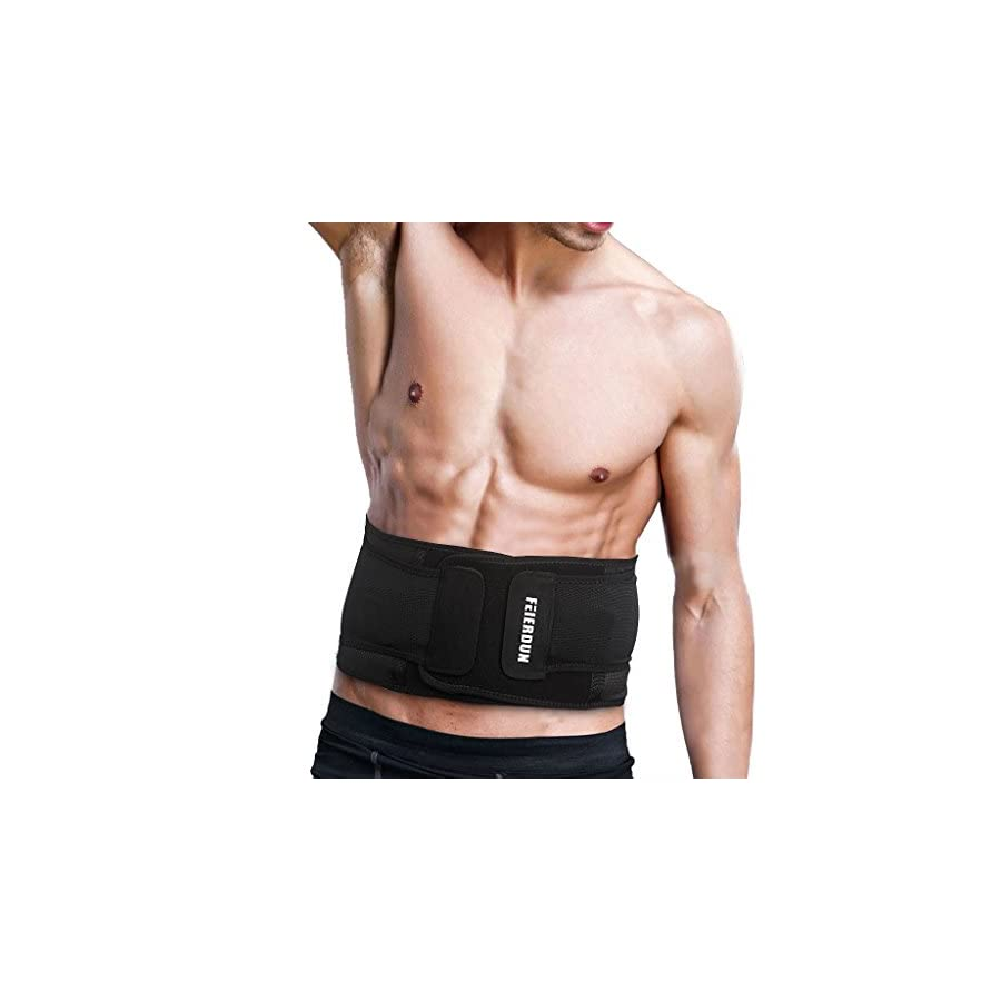 Waist Trimmer adjustable waist trainer for fast weight loss,belly fat buring,sweat workout,ab training.Latex free,Non Slip,1 year Warranty