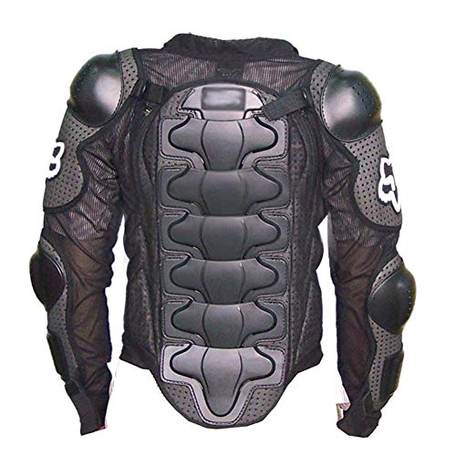 Full Armor Body (eroute66 Motorcycle Full Body Armor Protector Pro Street Motocross ATV Guard Shirt Jacket Black L)