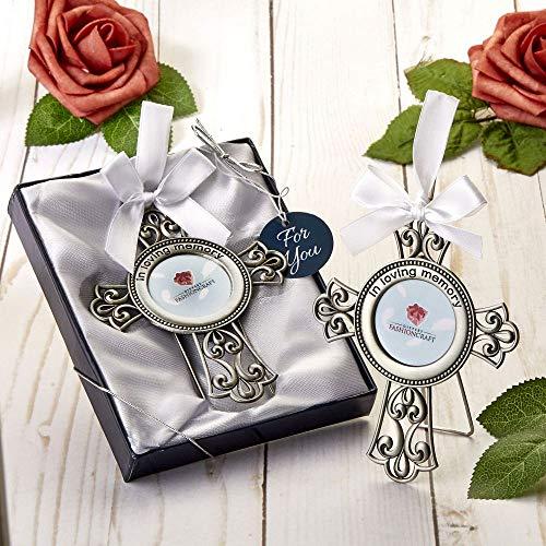 Pewter Silver Metal Loving Memory Cross Frame Ornament (60)