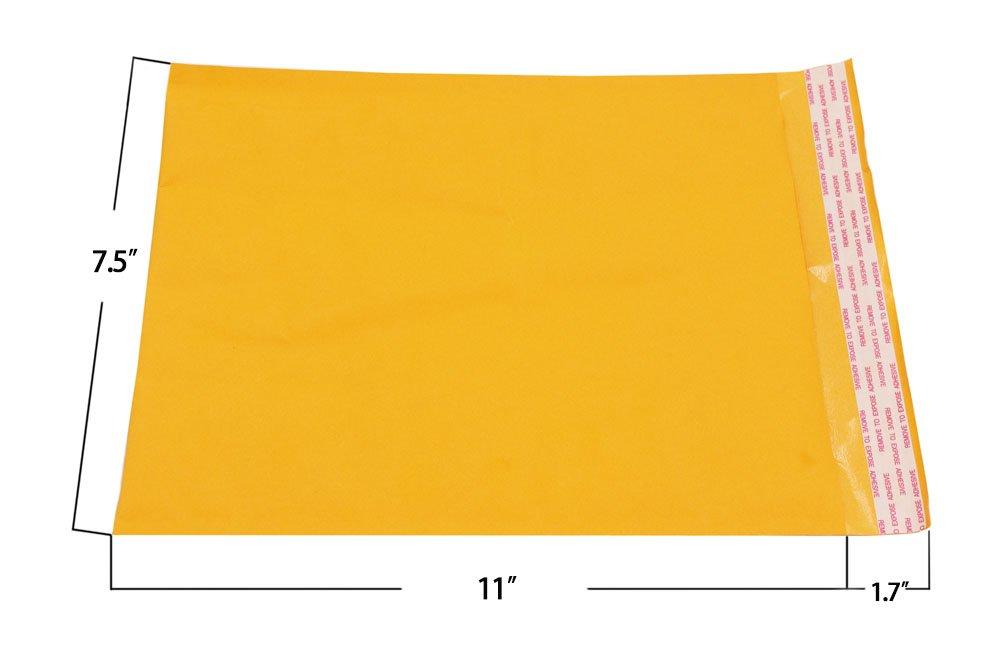 Ocharzy Self-Seal Kraft Bubble Mailers Pack of 50, 6x7 in