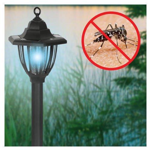 Porch Light Bug Zapper: Solar Powered Electric Bug Light Zapper- Outdoor Cordless