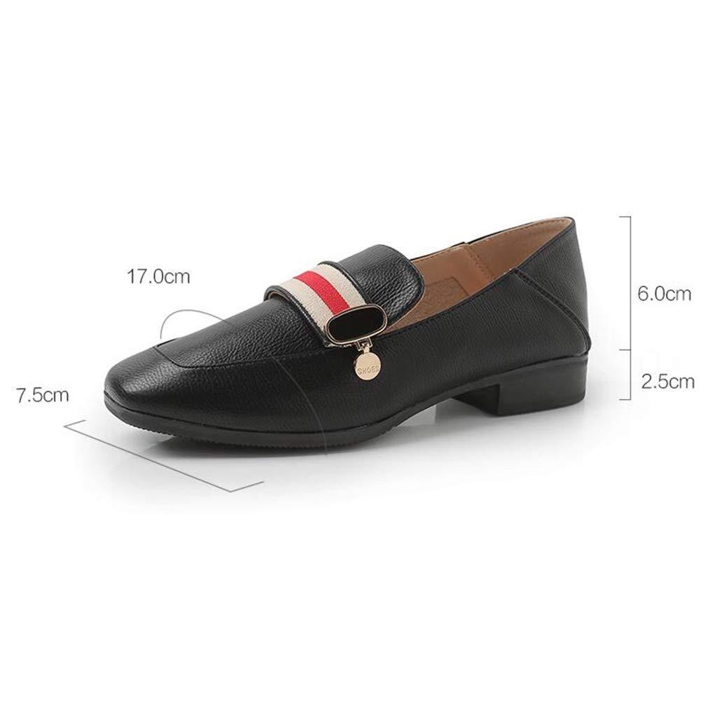 Europa und Die Vereinigten Staaten mit der Niedrigen Niedrigen Niedrigen Seite der Ferse mit Le Fu Schuhe Schuhe (Farbe   Schwarz, größe   38) f53fb5