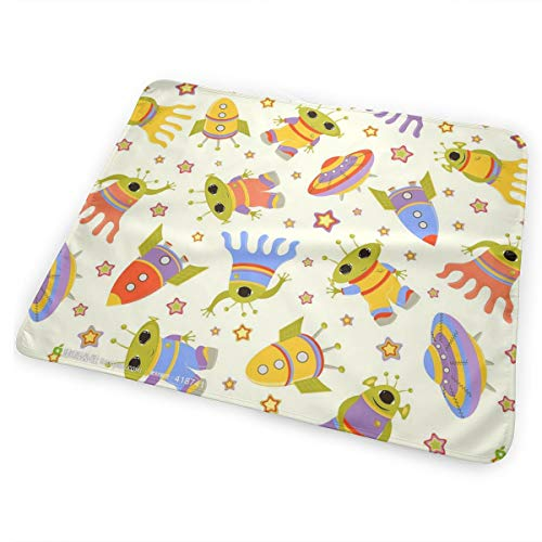 SDERY79 Space Shuttle, Alien, Flying Saucers Portable Changing Pad Waterproof Diaper Change Mat Large Size Multi-Function Home & Travel Mat Any Places Bed Play Stroller Crib Car Mattress Pad Cover ()