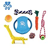 Versacrop Dog Rope Toys - Puppy Chew Toys Set 7 Pack, Dog Toy Set for Teeth Cleaning and Play Training - Dog Toys for Small to Large Dogs