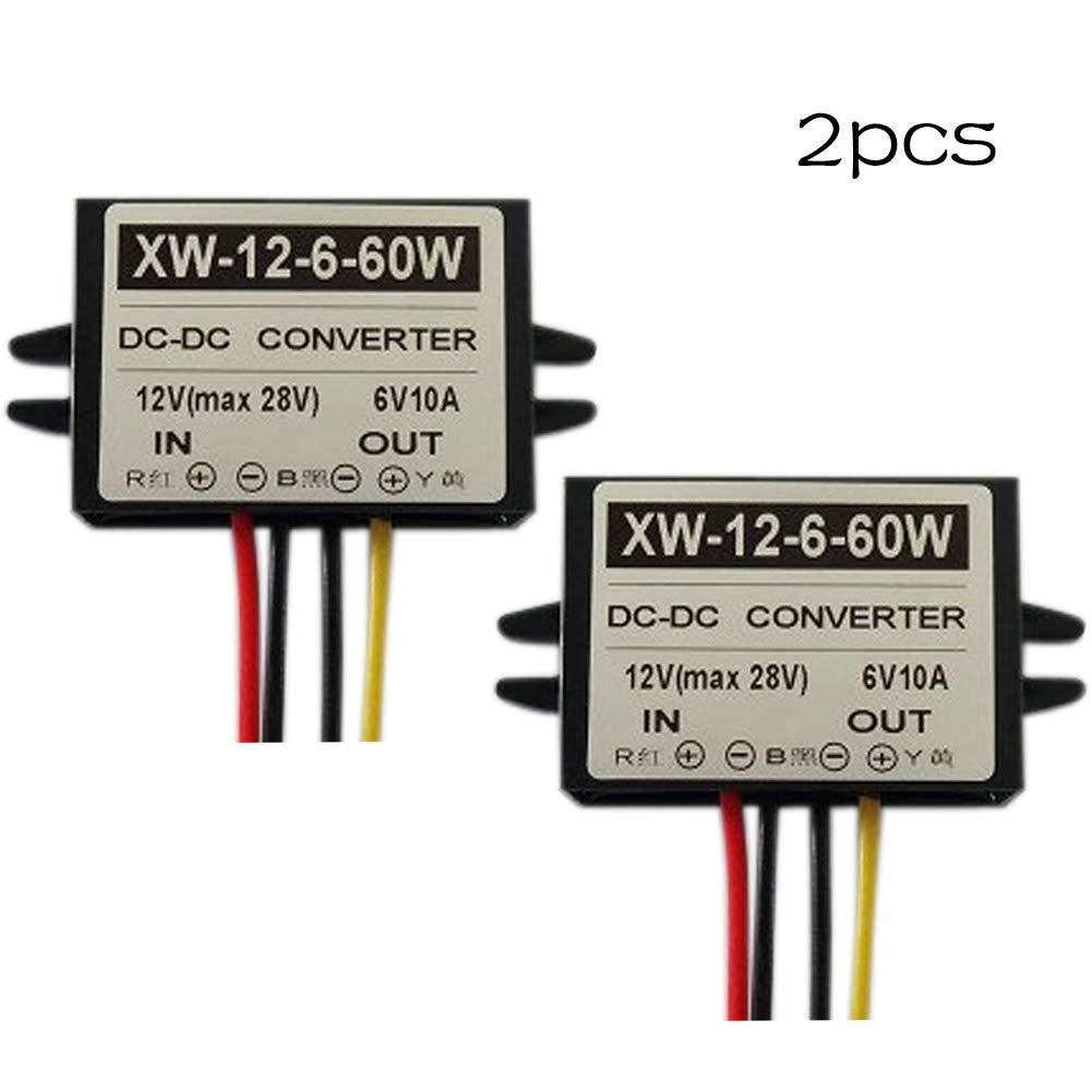 XUPHINX Convertitore Step-Down da 12V a 6V DC regolatore di Adattatore per variatore di Tensione di Alimentazione 10A 60W DC 1PCS