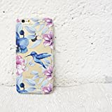 iphone 5 case vintage floral - Clear Plastic Case Cover for Apple iPhone 5/5S - COLORED VINTAGE HUMMINGBIRD flower floral bird japanese cherry blossom roses