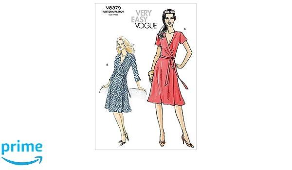 Vogue 8379 - Patrón de costura para confeccionar vestido de mujer (2 modelos diferentes) [en inglés]: Amazon.es: Hogar
