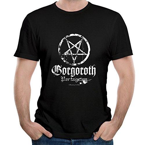 Fony Men's Gorgoroth Black Metal Band Logo Bergen Atterigner Short Sleeve Cool Tshirts