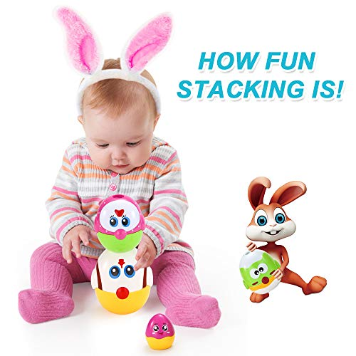 VATOS Nesting Easter Plastic Eggs Toy, Eggs Stacking Toy, Stacker Toys for 18 Months+ Baby Infant Toddler, Educational Toys for 1.5+ Years old Girl and Boys, Cute Chicken Family Style Baby Toddler Toy by VATOS (Image #1)
