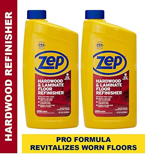 Zep Hardwood and Laminate Floor Refinisher 32 Ounce ZUHFR32 (2-Pack) (Best Hardwood Floor Refinisher)