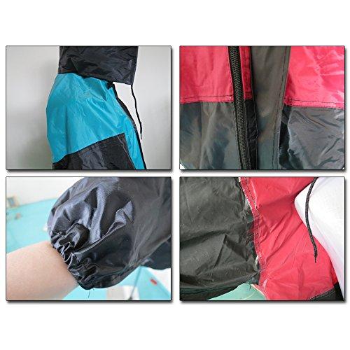 De Mujer Hombres Impermeable Chaqueta Negro Dos Un Bozevon Chubasquero Traje Moda Azul Lluvia Tamaño Piezas Pantalón Conjunto Y qYfwfd5
