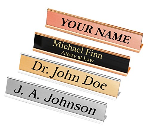 Metal Desk Nameplate - 1