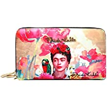 Frida Kahlo Floral Collection Wallet, Two Around Zip Closure