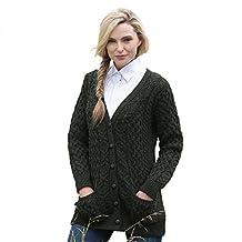 Irish Merino Wool Aran Knit Boyfriend Sweater