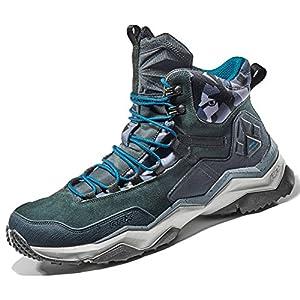 Rax Men's Wild Wolf Mid Venture Waterproof Lightweight Hiking Boots,Carbon Black,9.5 D(M) US