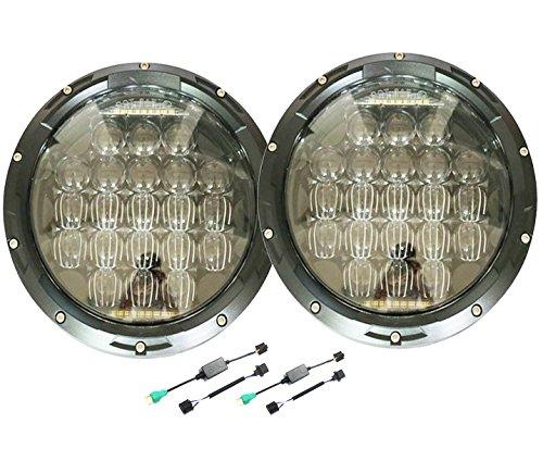 Jeep Anti-flicker Error Free Decoder Harness Canbus Resistor H4 HB2 9003 for 7 Inch Round LED Headlight Jeep Wrangler JK Tj Lj Harley Davidson Dashboard Warning Canceller Hi Lo Beam jose2015