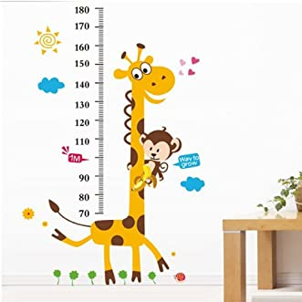 [Free Shipping] Giraffe Height Measuring Wall Stickers Decorative Wallpaper // Pegatinas de pared de la jirafa de medición de altura decorativos wallpaper&nbs