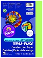 Pacon Tru-Ray Construction Paper, 9in. x 12in., Chartreuse