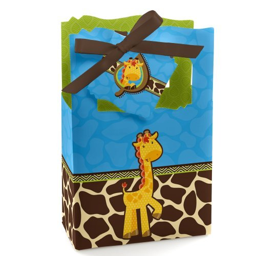 Giraffe Boy - Baby Shower or Birthday Party Favor Boxes - Set of 12]()