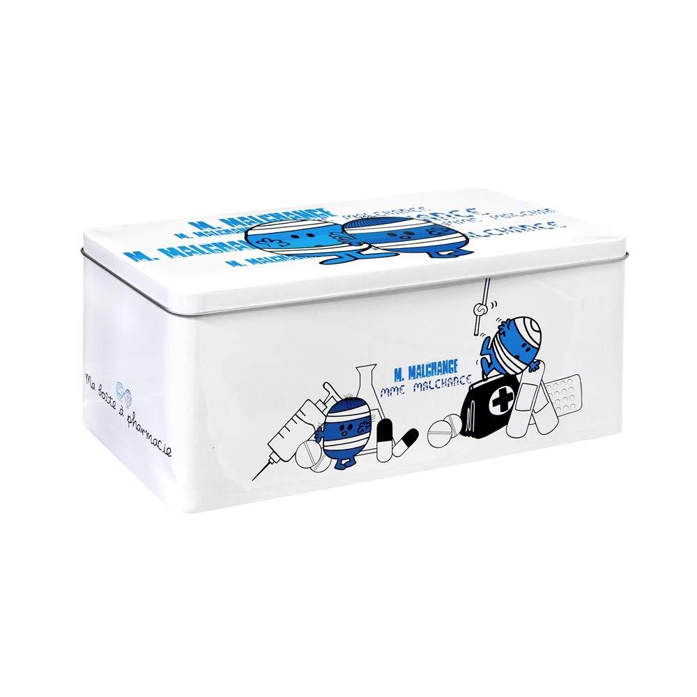 27,8x12,5x11,7 cm Bleu Rose Blanc Monsieur Madame MM3028 Boite /à Pharmacie M/étal Mr Mme Coloris Al/éatoire