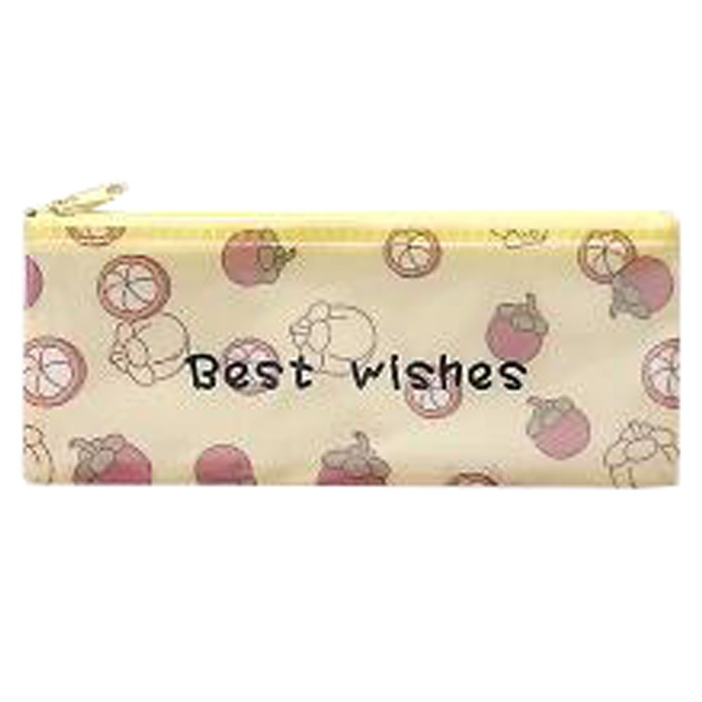 3PCS Cute File Bag Stationery Bag Pouch File Envelope for Office/School Supplies, Mangosteen B6
