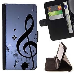 - Music - - Monedero PU titular de la tarjeta de cr?dito de cuero cubierta de la caja de la bolsa FOR Apple Iphone 5C Retro Candy