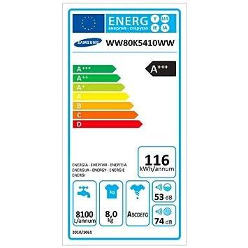 Samsung Lavadora WW80 K5410WW addwash 8 kg clase A + + + ...