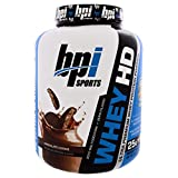 BPI Sports, Whey HD, Ultra Premium Whey Protein Powder, Chocolate Cookie, 4.2 lbs (1,900 g) - 2PC