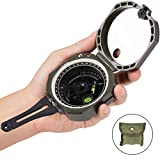occer Lensatic Military Directional Compass,Sighting Waterproof & Lightweight Compasses With Carrying Bag,Perfect for Orienteering Camping,Travel,Hiking,Boating,Hunting and Mapping