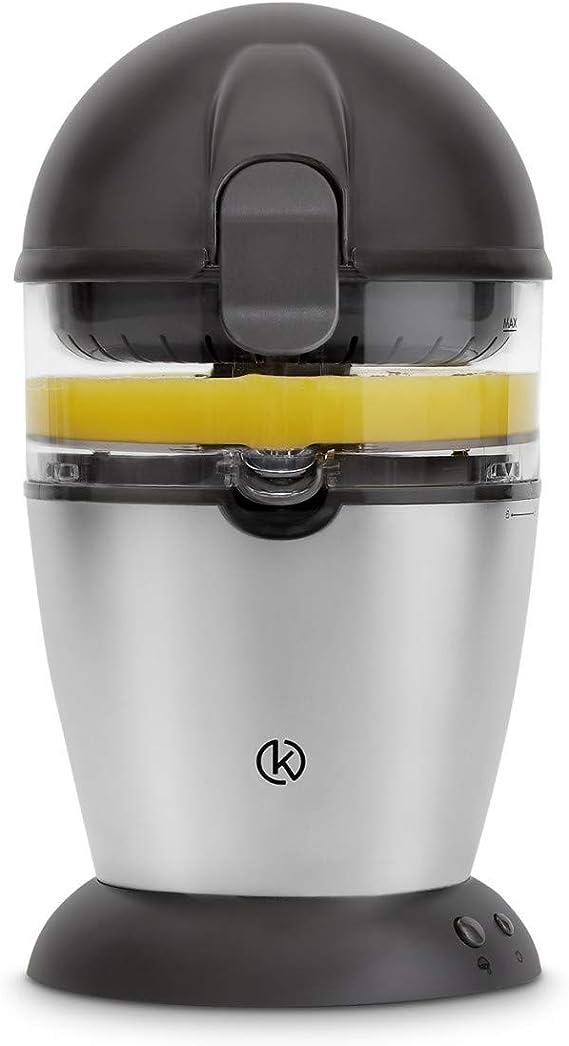 Exprimidor de zumo completamente automatico | Exprimidor Electrico de naranjas, Limones, Cítricos | 400 ml | Acero Inoxidable | + Receta Gratis (PDF): Amazon.es: Hogar