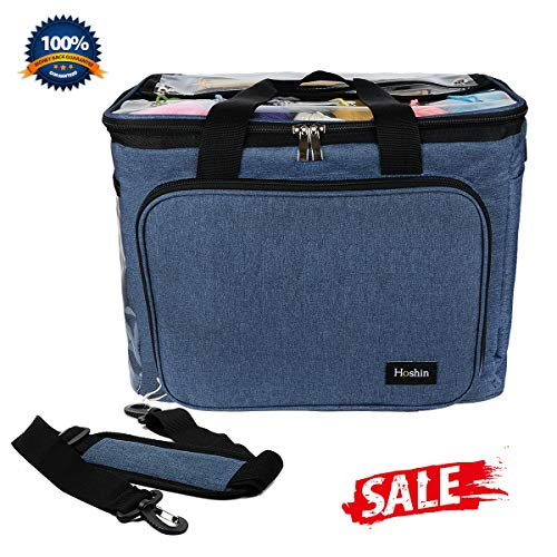 Hoshin Knitting Bag for Yarn Storage, High Capacity Yarn Totes Organizer with Inner Divider Portable for Carrying Project, Knitting Needles(up to 14