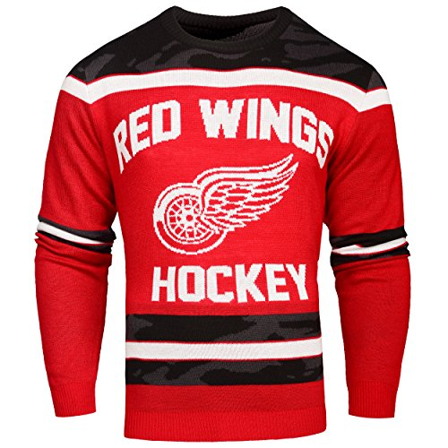 FOCO Detroit Red Wings Ugly Glow In The Dark Sweater - Mens - Mens Double Extra Large by FOCO