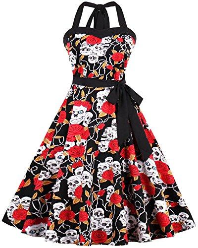 halter neck 50s dress - 2