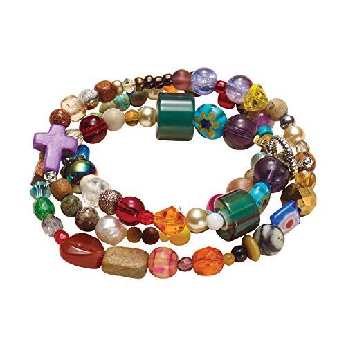 Millefiori Glass Beaded Bracelet - THE 29:11 STORY MINISTRY Women's Jeremiah 29:11 Bible Story Beaded Bracelet - Large