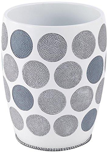 Avanti Linens 13870F WHT Dotted Circles Wastebasket, White ()