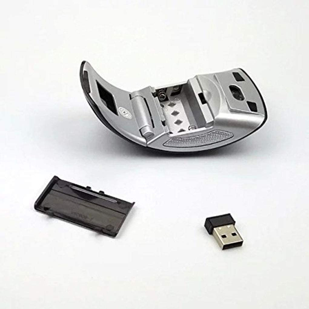 Color : NO.1 HAOYUSHANGMAO for Arc 2.4G Wireless Folding Mouse Cordless Mice USB Foldable Receivers Games Computer Laptop Accessory