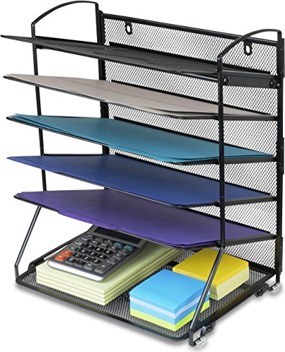SimpleHouseware 6 Trays Desktop Document Letter Tray Organizer, - Desk Organizer