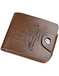 Mens Boys Classic Leather Pockets Credit/ID Cards Holder Purse Wallet