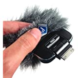 Micover Slipover-Mini Windscreen for TASCAM iM2X, iM2 and Blue Mikey iPhone Microphones