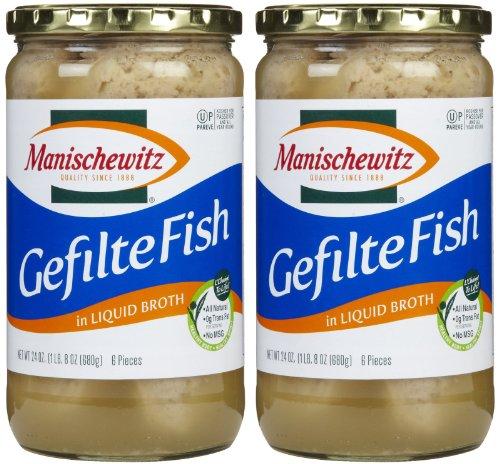 Manischewitz Gefilte Fish (MANISCHEWITZ FISH GEFILTE NON JEL, 24 OZ)