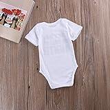 Guogo Newborn Baby Auntie Letter Print Short Sleeve