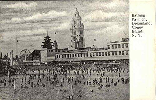 Dreamland Coney Island (Bathing Pavilion Dreamland Coney Island, New York Original Vintage Postcard)